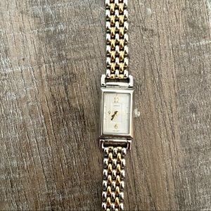 COACH stainless steel and gold watch